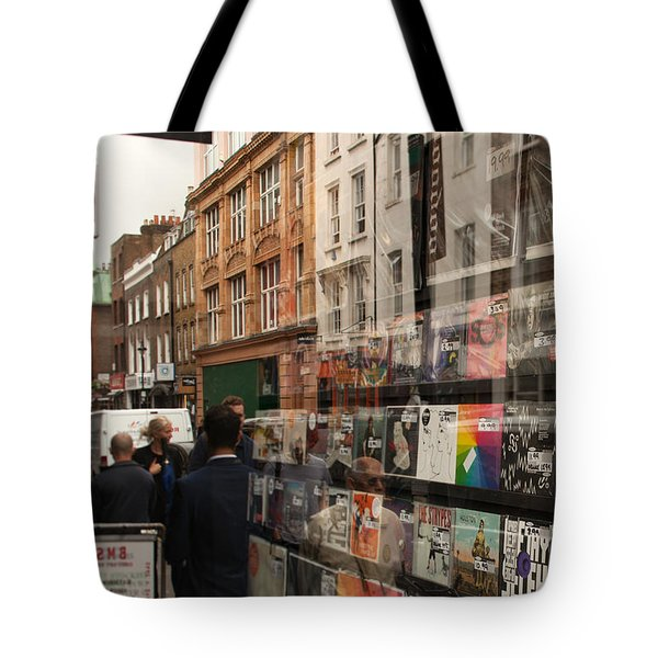 Records Store Windows Reflection  Tote Bag