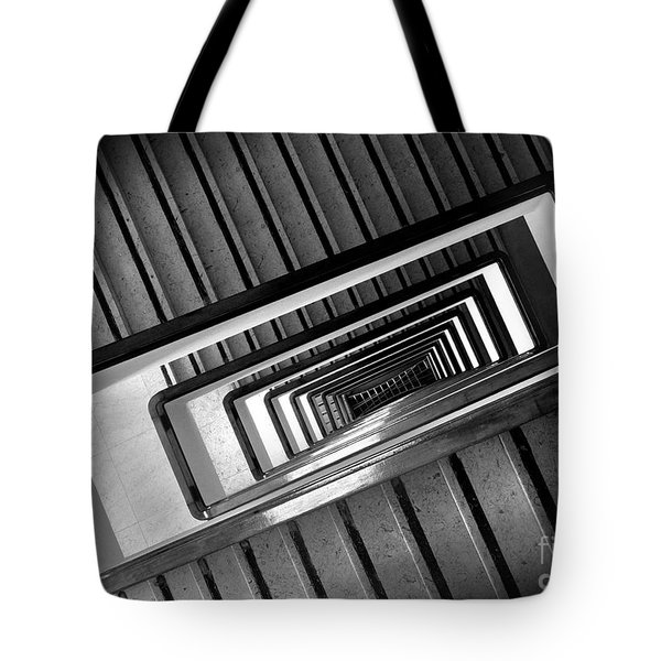 Rectangular Spiral Staircase Tote Bag