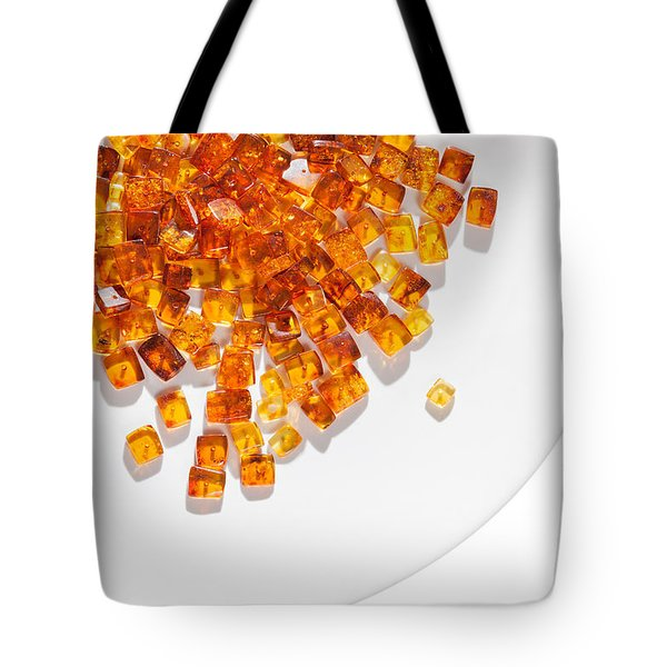 Tote Bag featuring the photograph Rectangular Stones Yellow Amber  by Andrey  Godyaykin