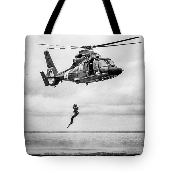 Recue Swimmer Free Fall Tote Bag