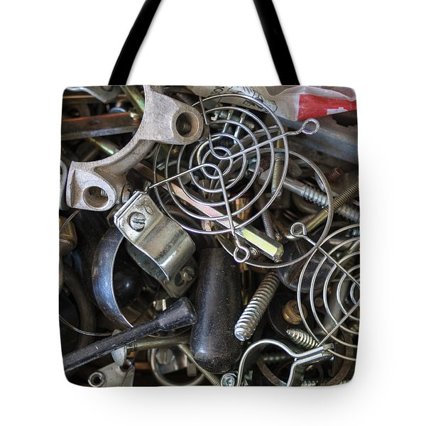 Tote Bag featuring the photograph Recycle Metal by Giovanni Bertagna