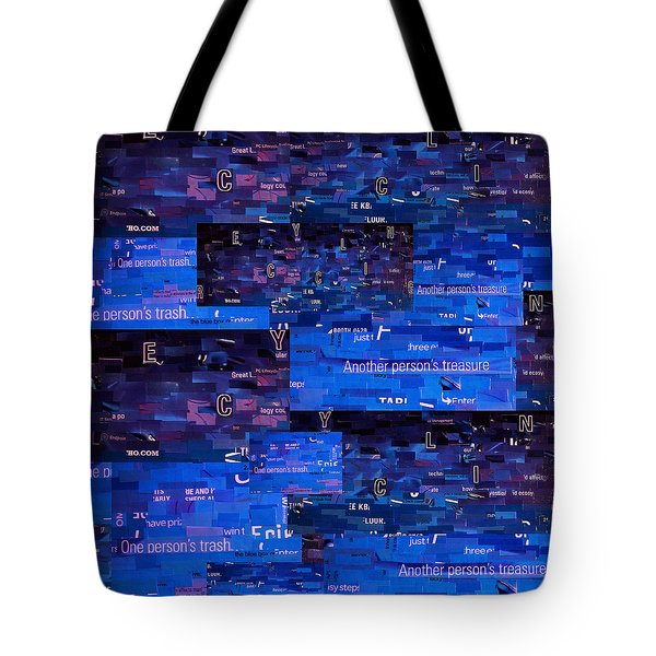 Tote Bag featuring the digital art Recycling by Shawna Rowe
