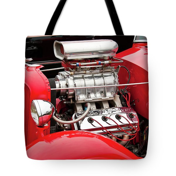 Tote Bag featuring the photograph Red 1992 by Guy Whiteley