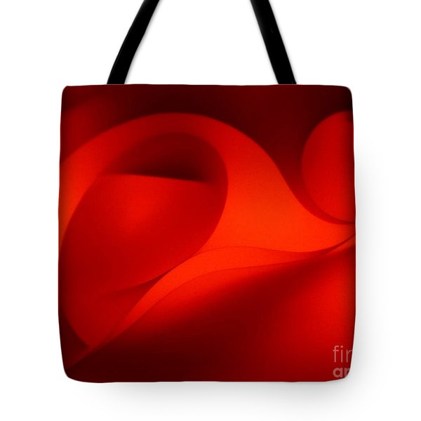 Red Abstract 4 Tote Bag