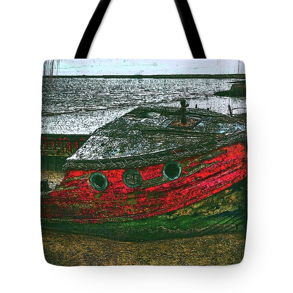 Red Accent Tote Bag