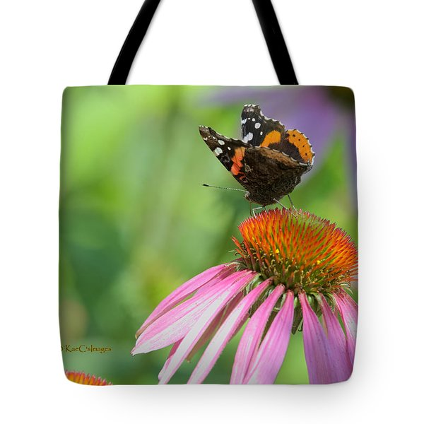 Red Admiral On Cone Flower Tote Bag