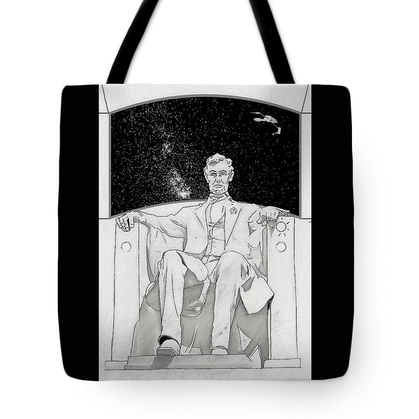 Tote Bag featuring the drawing Red Alert by John Haldane
