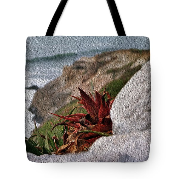 Red Aloe Vera By The Sea Tote Bag