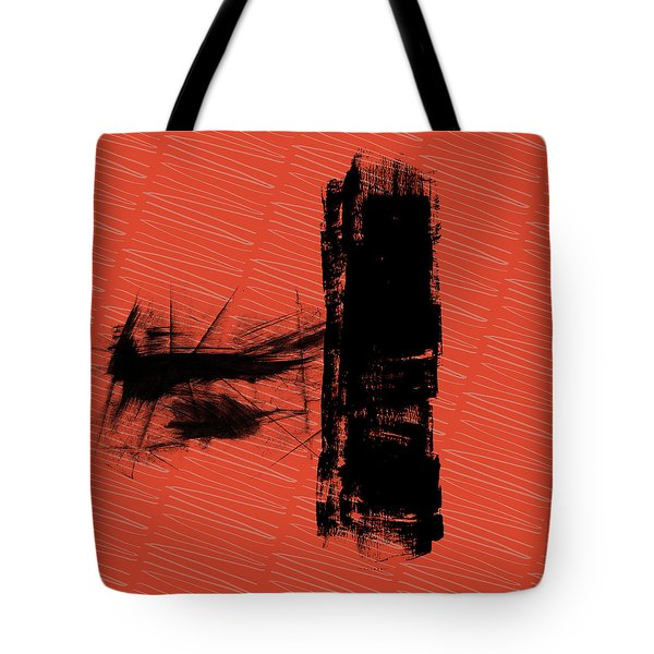 Red And Black Allover Abstract Tote Bag