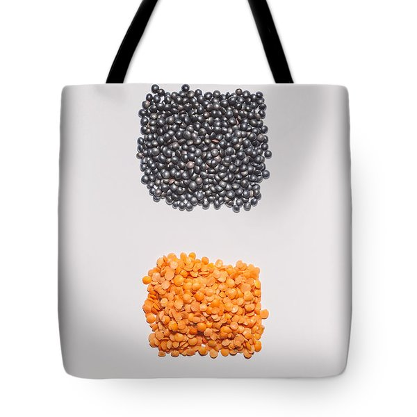 Red And Black Lentils Tote Bag