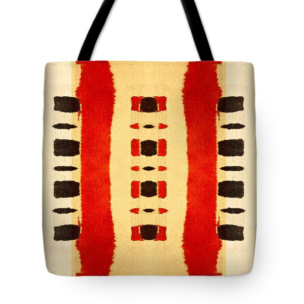 Red And Black Panel Number 1 Tote Bag