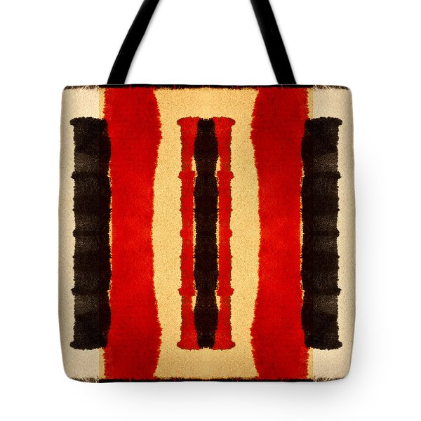 Red And Black Panel Number 2 Tote Bag
