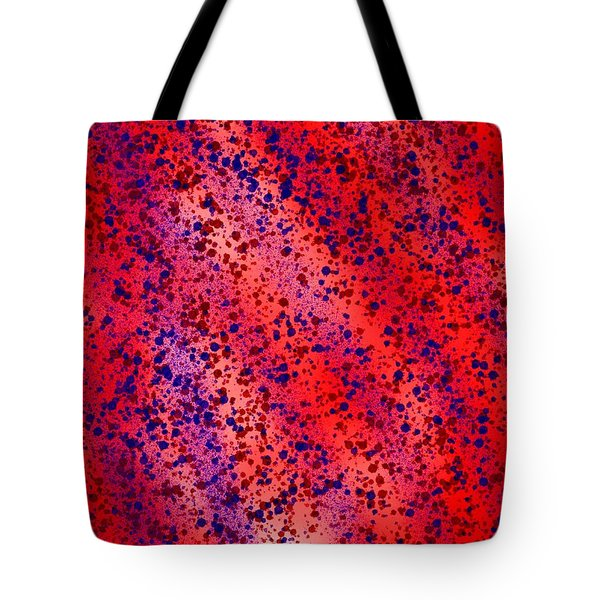 Red And Blue Splatter Abstract Tote Bag