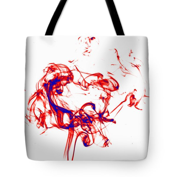 Red And Blue Twirrl Tote Bag