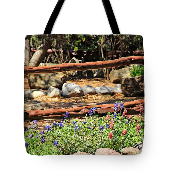 Red And Bluebonnets Tote Bag
