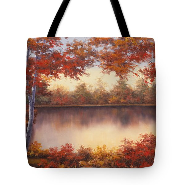 Red And Gold Tote Bag by Diane Romanello