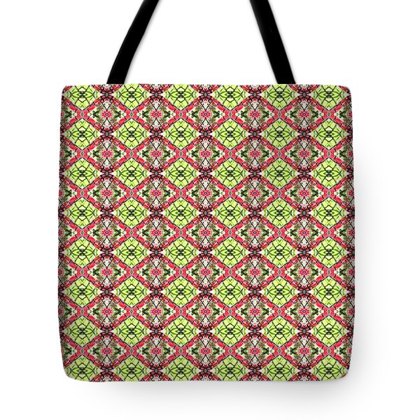 Tote Bag featuring the digital art Red And Green by Elizabeth Lock