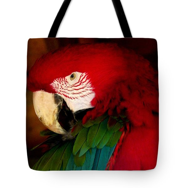 Red And Green Wing Macaw Tote Bag