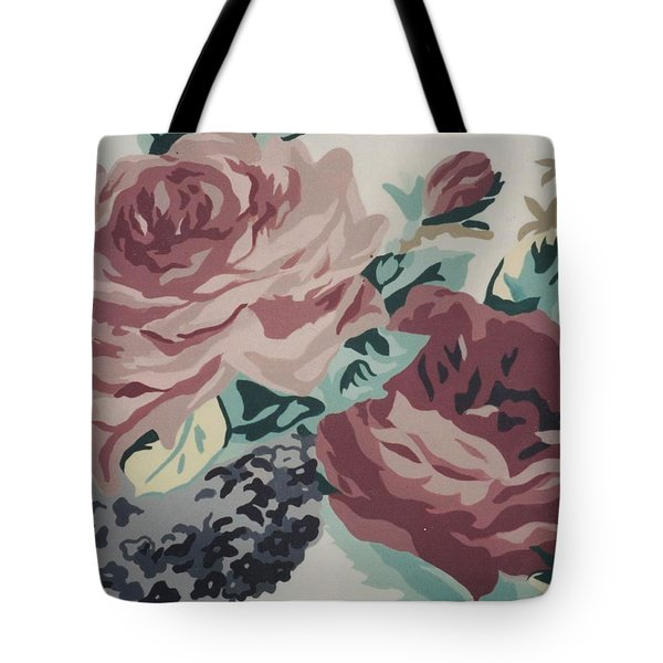 Red And Pink Flowers Tote Bag