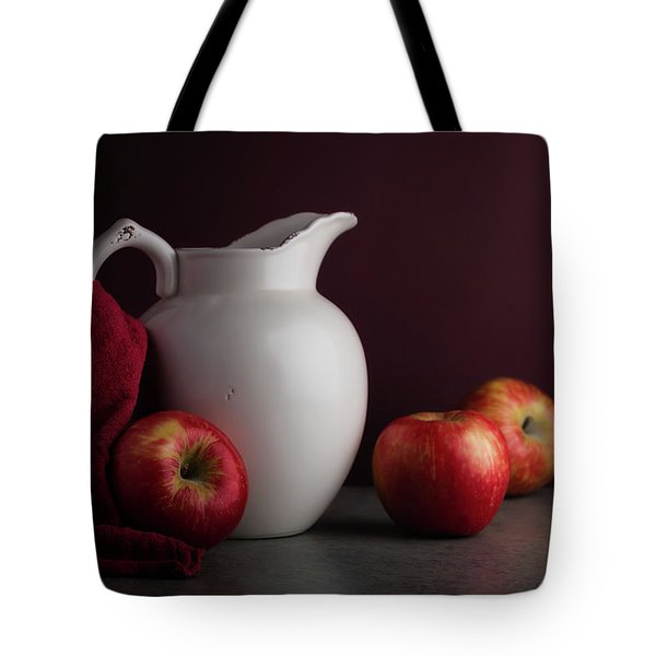 Red And White Apple Still Life Tote Bag