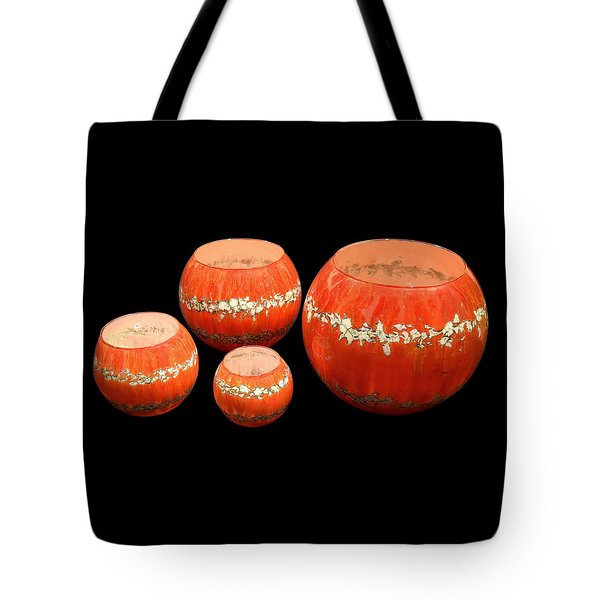 Red And White Bowls Tote Bag