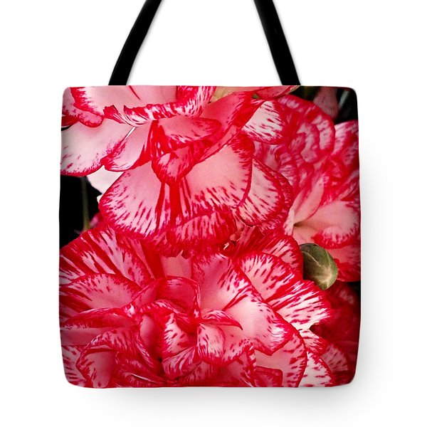 Red And White Carnations Tote Bag by Margaret Newcomb