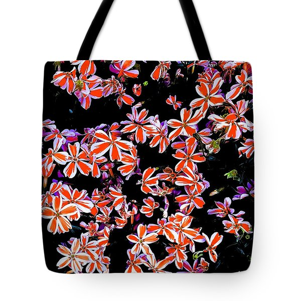 Red And White Flowers Tote Bag