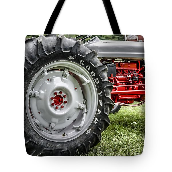 Red And White Ford Model 600 Tractor Tote Bag