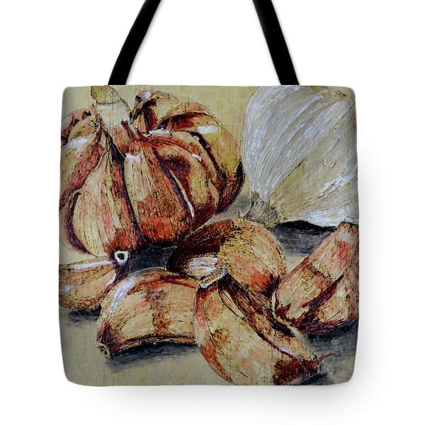 Red And White Garlic Tote Bag