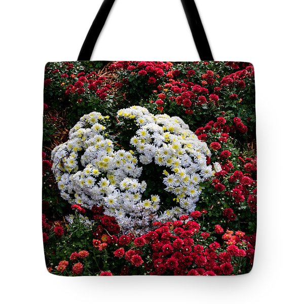 Tote Bag featuring the photograph Red And White by Jay Stockhaus