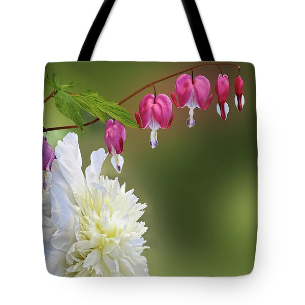 Red And White Tote Bag