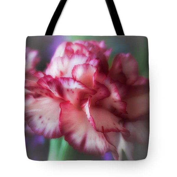 Red And White Splash Tote Bag