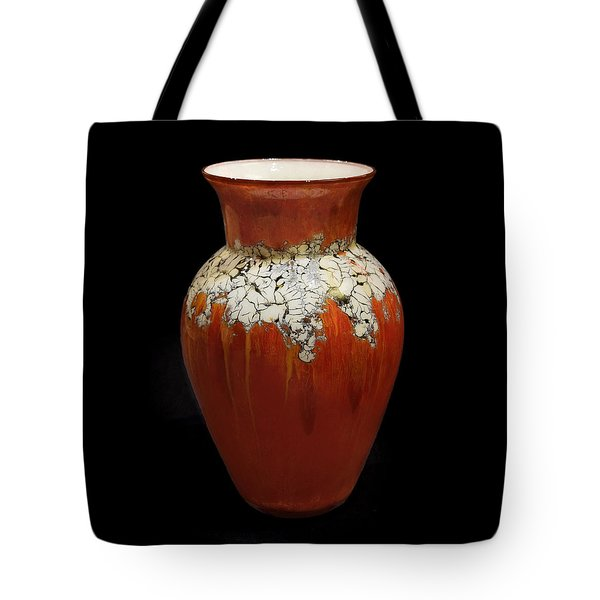 Red And White Vase Tote Bag