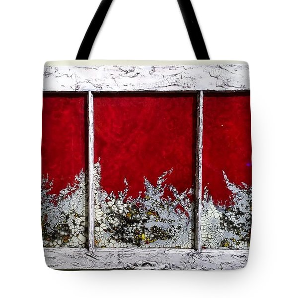 Red And White Widow # 2 Tote Bag