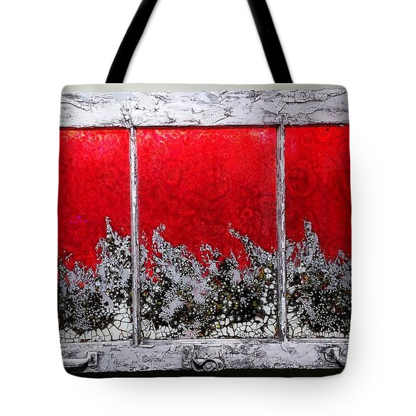 Red And White Window # 1 Tote Bag