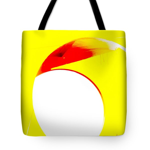 Red And Yellow Abstract Tote Bag by Tony Grider