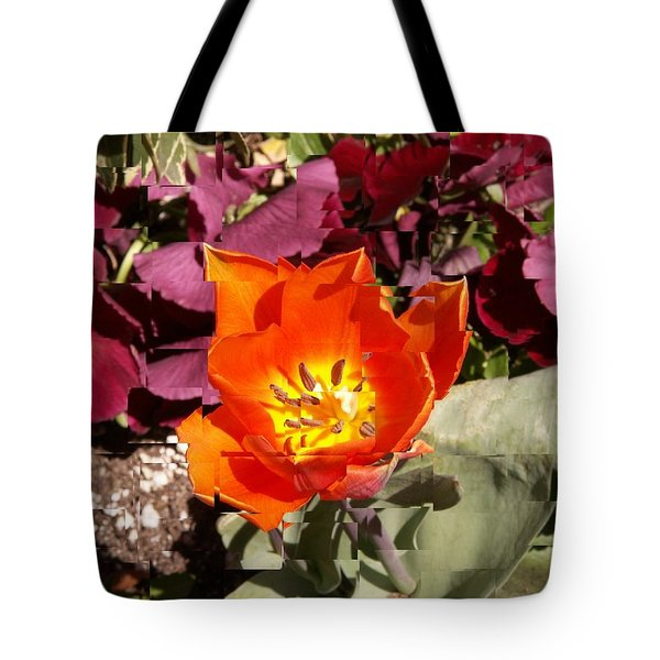 Red And Yellow Flower Tote Bag by Tim Allen