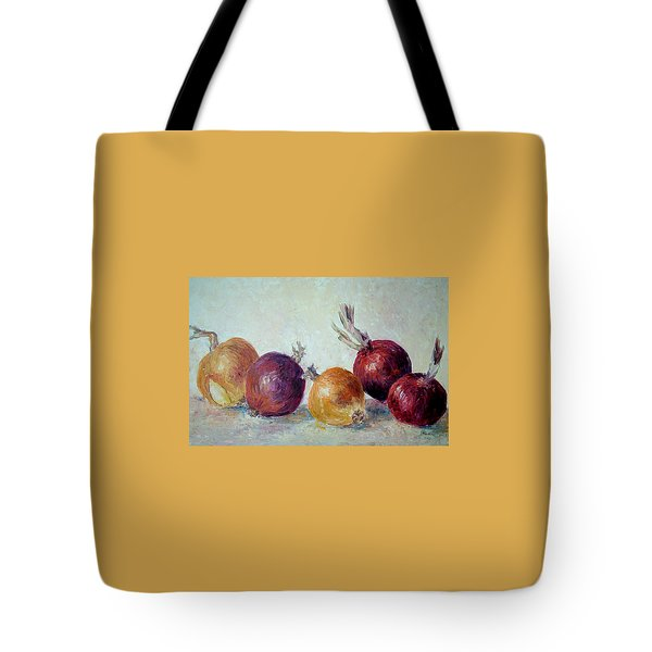 Red And Yellow Onions Tote Bag