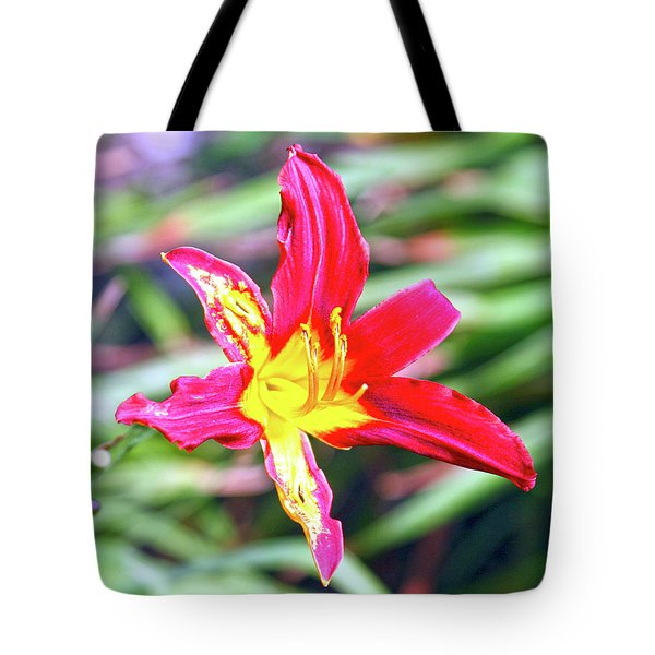 Red And Yellow Orchid Tote Bag