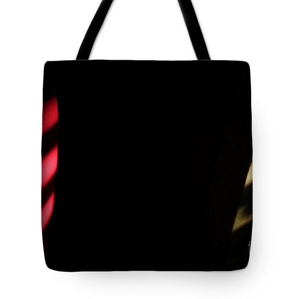 Tote Bag featuring the digital art Red And Yellow by Todd Blanchard