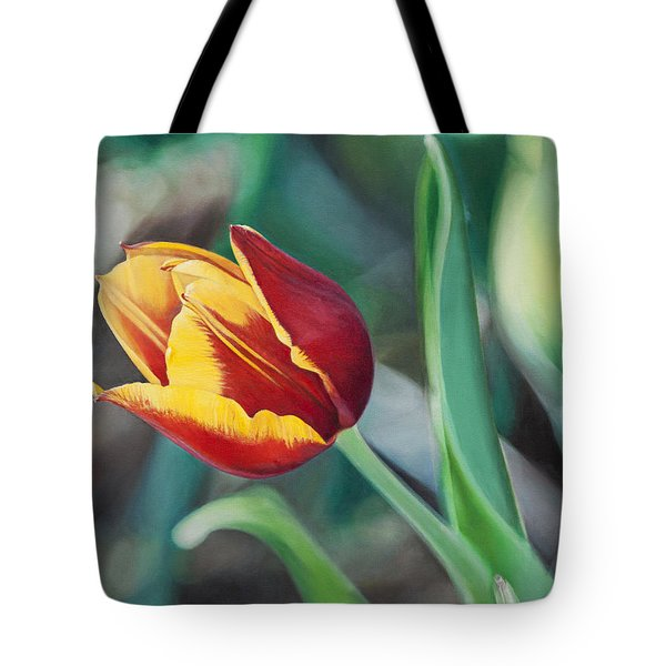 Red And Yellow Tulip Tote Bag