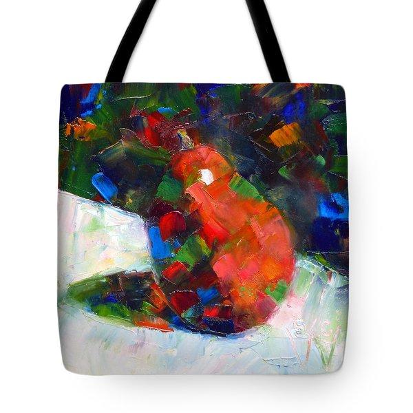 Red Anjou Confetti Tote Bag