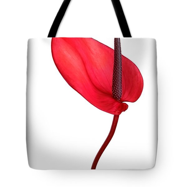 Red Anthrium Tote Bag