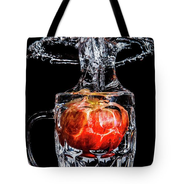 Red Apple Splash Tote Bag
