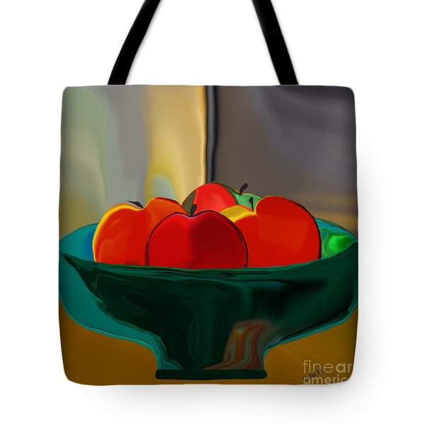 Red Apples Fruit Series Tote Bag