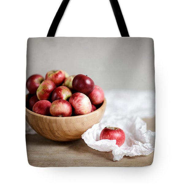 Red Apples Still Life Tote Bag