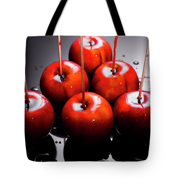 Red Apples With Caramel  Tote Bag