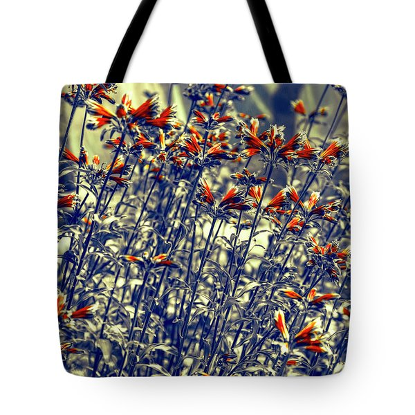 Tote Bag featuring the photograph Red Army by Wayne Sherriff