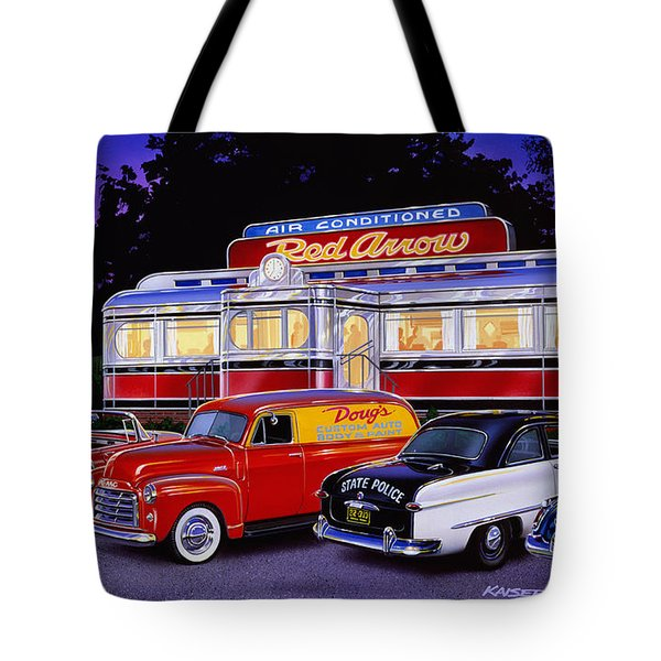 Red Arrow Diner Tote Bag by Bruce Kaiser