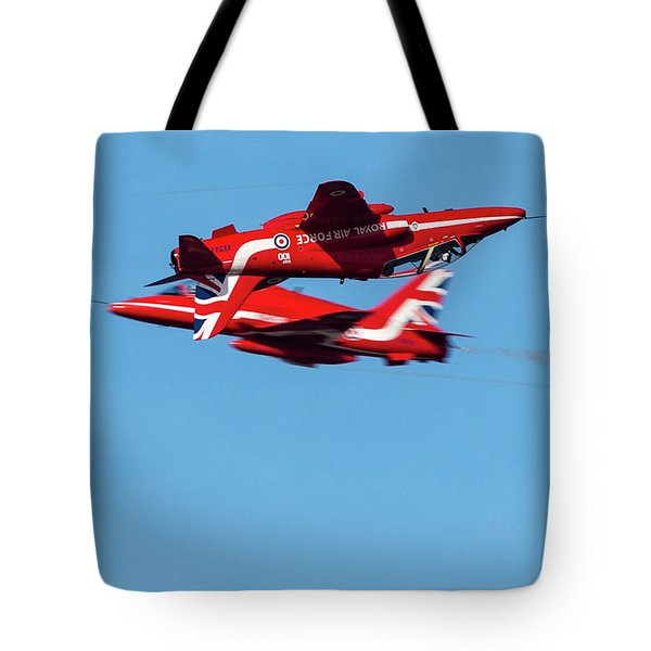 Tote Bag featuring the photograph Red Arrows  by Cliff Norton